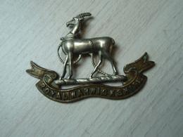 Cap Badge Warwickshire Regiment. WW1 - 1914-1918.  Patte Coupée. - 1914-18