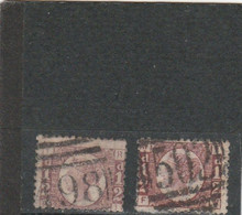GB 1870/79: Two Items Of 1/2 D Used, Perfor. See Scan; S.G. 48/49        O - Usati