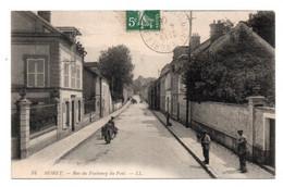 CPALL 34..Moret Rue Du Faubourg Du Pont Animée - Moret Sur Loing