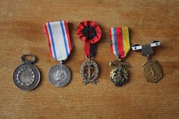5 Médailles  Sauvetage, Marine XIX° Début XX° - Non Classés