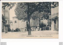 Carte De  Bargemon  Place De La Convention - Bargemon