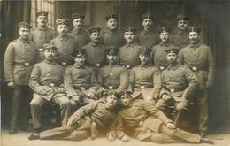 CARTE PHOTO COLN WEIDENBACH REGT N°13 1915 SOLDATS ALLEMANDS  CACHET AU VERSO - Oorlog 1914-18