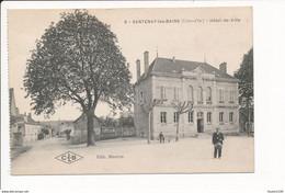 Carte De SANTENAY LES BAINS Hôtel De Ville ( Tambour De Ville )   ( Recto Verso ) - Autres Communes