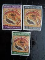 VATICAN 1967 UNIFICATO N° 458 à 460 ** - NATALE S. ROTOCALCO - Ongebruikt