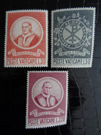 VATICAN 1969 UNIFICATO N° 476 à 478 ** - CENTENARIO DEL CIRCOLO SAN PIETRO - Ongebruikt