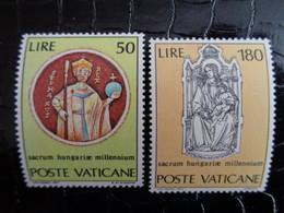 VATICAN 1971 UNIFICATO N° 513 & 514 ** - MILLENNIO DI SANTO STEFANO - Ongebruikt