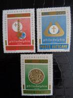 VATICAN 1976 UNIFICATO N° 595 à 597 ** - 41e CONGRESSO EUCARISTICO INTERN. - Ongebruikt