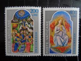 VATICAN 1977 UNIFICATO N° 618 & 619 ** - SOLENNITA DELL' ASSUNZIONE - Ongebruikt