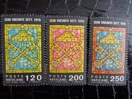 VATICAN 1978 UNIFICATO N° 641 à 643 ** - SEDE VACANTE - Ongebruikt