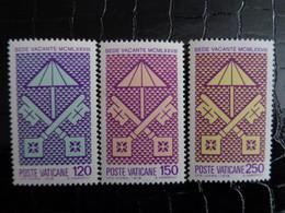 VATICAN 1978 UNIFICATO N° 638 à 640 ** - SEDE VACANTE - Ongebruikt