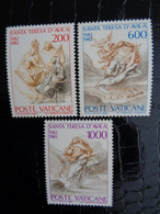 VATICAN 1982 UNIFICATO N° 713 à 715 ** - 4e CENTENARIO DELLA MORTE DI SANTA TERESA D'AVILA - Ongebruikt