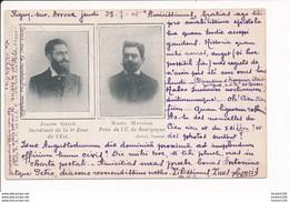 Carte De Joseph GELLE Secraitaire De La Zône De L'est Raoul MAGGIAR Président De L'u. De Bourgogne AUTUN Semeur - Autun