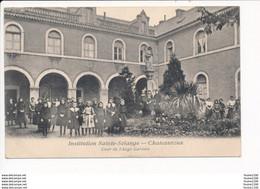 Carte De CHATEAUROUX Institution Sainte Solange Cour De L' Ange Gardien - Chateauroux
