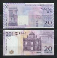 Macau Macao 2005/13 BNU & BOC 20P Banknotes. UNC - Macau