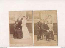 """LOT 2 """" PHOTO CABINET """" De Famille épreuve Obtenue En Plein Air Photographe MARIUS CARPIN Suc. 55 Rue Réaumur PARIS - Old (before 1900)"""