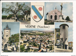 Carte ( Format 15 X 10,5 Cm ) De VEDENE Multivues  Blason  ( Recto Verso ) - Otros Municipios