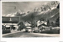LES HOUCHES MONT BLANC  Quartier Saint Antoine ' Car / Autobus )  Format C.P.A ( Flamme Chamonix 1962 ) - Les Houches