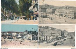 LOT De 22 Cartes De NICE Tramway Place Masséna Avenue De La Gare Casino Escalier Lesage Hôtel Suisse Régina Etc...... - Lots, Séries, Collections