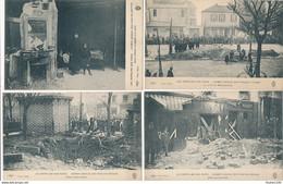 LOT De 7 Cartes LES ZEPPELINS SUR PARIS CRIMES ODIEUX DES PIRATES BOCHES ( Ruines De La Grande Guerre ) - Lots, Séries, Collections