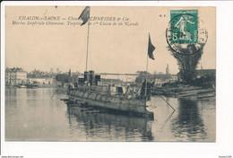 Carte De CHALON SUR SAONE Chantiers Schneider & Cie Marine Impériale Ottomane Torpilleur De 1er Classe ( Recto Verso ) - Chalon Sur Saone