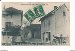 Carte De TIRIEU DE COURTENAY  La Grande Rue ( Café Berliat )( Recto Verso ) - Autres Communes
