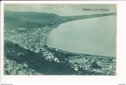 Carte De SALERNO  A Volo D' Uccello   ( Recto Verso ) - Salerno
