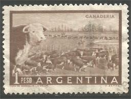 144 Argentina 1958 1p Ganaderia Cattle Ranch Ferme Bétail (ARG-216b) - Landbouw
