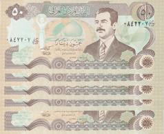 IRAQ 50 DINAR 1994 P-83 LOT X5  UNC NOTES - Iraq