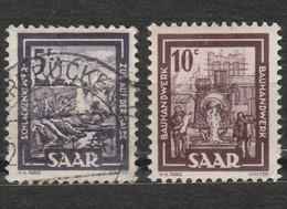 Saargebiet Saar Sarre Saar Land 2 Timbres Chemin De Fer Année 1950 Mi 276, 10 C Est Neuf Année 1949 Les Métiers Mi 272 - Used Stamps