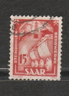 Saargebiet - Saar - Sarre - Saar Land - 2 Timbres Wagon De Minerai De Charbon 1950 Mi 281 Et Mineur Année 1922 Mi 85 A - Used Stamps