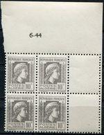 ALGERIE N°209 ** EN BLOC DE 4 DATE DU 6-44 - Unused Stamps