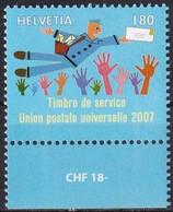 SCHWEIZ 2007 Mi-Nr. UPU 21 ** MNH - Dienstpost