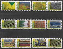 2021 FRANCE Adhesif Oblitérés, Paysages, Série Complète - Sellos Autoadhesivos