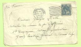 """Brief 's GRAVENHAGE Naar """"Bataillon De Chemins De Fer De Genie- Section Signalisation Armee Belge"""" Naar VEURNE (3529) - Belgisch Leger"""