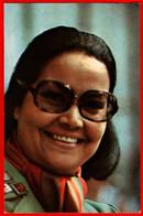 00493 Madiha Yusri Are Smile Sunglasses Actor Actress Actor Actress Movie Actor Actress Film 1975 USSR Soviet Card - Acteurs