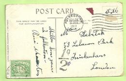 "Kaart ""S.M."" (Militair Belge) Stempel FOLKESTONE Op 31/10/1917 Naar TWICKENHAM, Taxe 1/2D. Taxezegel (3530) - Andere"