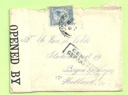 """Brief FOLKESTONE 6/1/17 (Soldat Belge) Naar """"Van De Velde BERGEN OP ZOOM OPENED BY CENSOR +GEPASSEERD (3531) - Andere"""