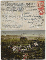Portugal 1935 Postcard Vila Da Irmandade From Lisboa To Liege Belgium Postage Due Stamp T Of Taxe Postamark - Brieven En Documenten