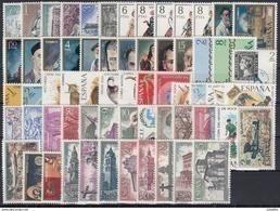 ESPAÑA 1971 Nº 2008/2070 AÑO NUEVO COMPLETO 63 SELLOS CON TRAJES - Full Years