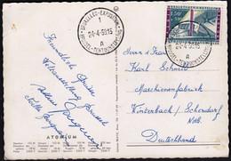 Belgium 1958 / World Exhibition In Bruxelles / Palace Of Belgium Congo And Ruanda Urundi / Atomium Postcard - 1958 – Bruselas (Bélgica)