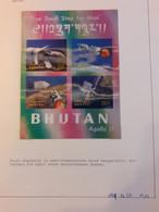 Lot De Timbres Neufs Du Bhoutan, Bhutan, Hologramme, Métal, Non Dentelé, Fusée, Espace, RARE. Lire Description Complète - Bhoutan