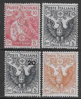 Italia Italy 1915 Regno Croce Rossa Sa N.102-105 Completa Nuova MH * - Ongebruikt