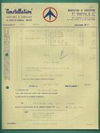 76 Rouen Constellation Ets Queval Manufacture De Confection ( Logo Avion ) 31 08 1959 - Textilos & Vestidos