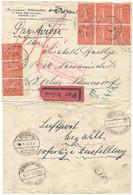1927 SEMEUSE 199 50c 9 Pces LETTRE AVION > BERLIN ALLEMAGNE - MIT LUFTPOST BEFÖRDET - GARE DU NORD PROVINCE - 1921-1960: Modern Period