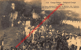 Basoko - La Foule Attendant L'arrivée Du Ministre Des Colonies - Congo Belge - Belgisch-Kongo - Sonstige