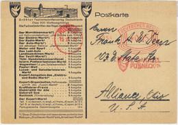 """ALLEMAGNE / DEUTSCHLAND - 1927 Firmen Freistempel """"C.G.VOGEL / PÖSSNECK I. Th."""" (Fachzeitschriften) PÖSSNECK Auf Karte - Cartas"""