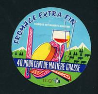 ETIQUETTE DE FROMAGE:  FROMAGE EXTRA-FIN - FABRIQUÉ EN CHARENTE-MARITIME - - Cheese