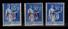 Franchise - YV 8 / 9 / 10 N** Paix Cote 5,20 Euros - Militärpostmarken