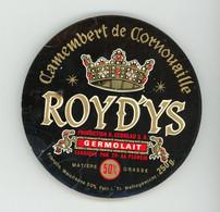ETIQUETTE DE FROMAGE:  CAMEMBERT DE CORNOUAILLE - ROYD'YS - - Cheese