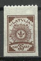 LETTLAND Latvia 1919 Michel 12 B - Perforated 9 3/4 At Top Margin * - Latvia